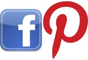 facebook and pinterest logo